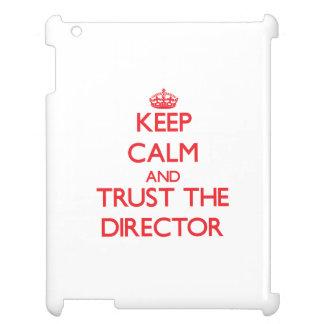 平静を保ち、ディレクターを信頼して下さい iPadケース