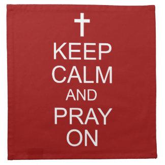 平静を保ち、ナプキンで祈って下さい ナプキンクロス
