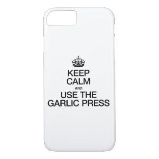 平静を保ち、ニンニク絞り器を使用して下さい iPhone 8/7ケース