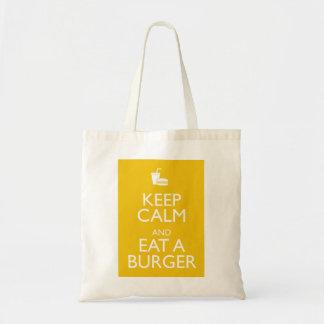 平静を保ち、ハンバーガーを食べて下さい トートバッグ