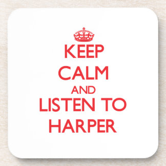平静を保ち、ハープ奏者に聞いて下さい コースター