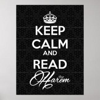 平静を保ち、ハーレムポスタープリントを読んで下さい ポスター