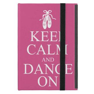 平静を保ち、バレリーナの靴のピンクで踊って下さい iPad MINI カバー