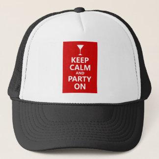 平静を保ち、パーティを楽しんで下さい キャップ