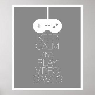 平静を保ち、ビデオゲームを遊んで下さい ポスター