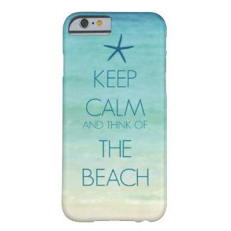 平静を保ち、ビーチの写真のデザインの考えて下さい BARELY THERE iPhone 6 ケース