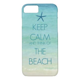 平静を保ち、ビーチの写真のデザインの考えて下さい iPhone 8/7ケース