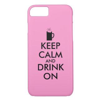 平静を保ち、ビールソーダルートビアの恋人で飲んで下さい iPhone 8/7ケース