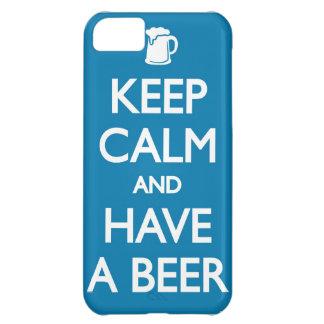 平静を保ち、ビールiphoneの例を持って下さい iPhone5Cケース