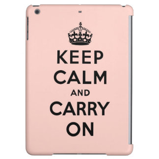 平静を保ち、-ピンクおよび黒続けていって下さい iPad AIRケース
