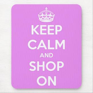 平静を保ち、ピンクで買物をして下さい マウスパッド