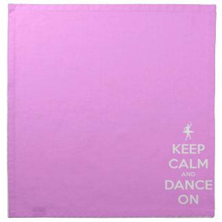 平静を保ち、ピンクで踊って下さい ナプキンクロス