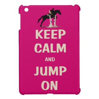 平静を保ち、ピンクの馬で跳んで下さい iPad MINI カバー