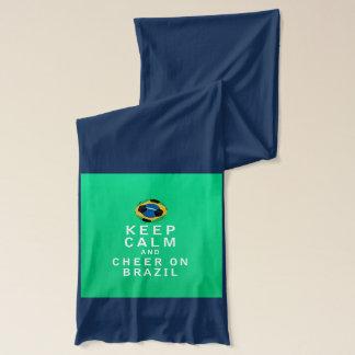 平静を保ち、ブラジルで元気づけて下さい スカーフ