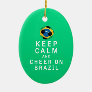 平静を保ち、ブラジルで元気づけて下さい セラミックオーナメント