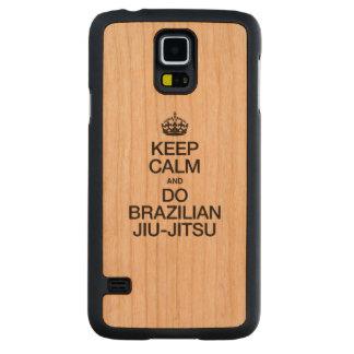 平静を保ち、ブラジルJIU JITSU.aiをして下さい CarvedチェリーGalaxy S5スリムケース