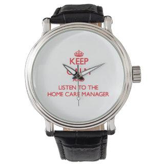平静を保ち、ホームケアのマネージャーに聞いて下さい 腕時計