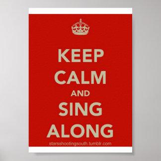 平静を保ち、ポスターに沿って歌って下さい ポスター
