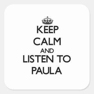 平静を保ち、ポーラに聞いて下さい スクエアシール