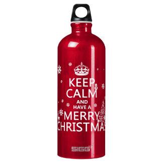 平静を保ち、メリークリスマスを持って下さい ウォーターボトル
