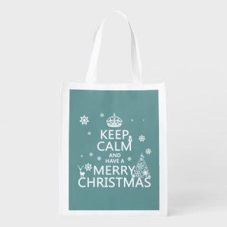 平静を保ち、メリークリスマスを持って下さい エコバッグ