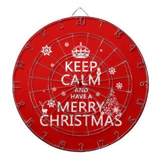 平静を保ち、メリークリスマスを持って下さい ダーツボード