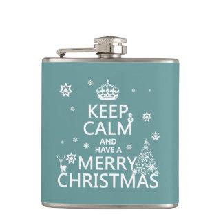 平静を保ち、メリークリスマスを持って下さい フラスク