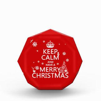 平静を保ち、メリークリスマスを持って下さい 表彰盾