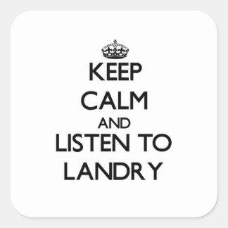 平静を保ち、ランドリーに聞いて下さい スクエアシール