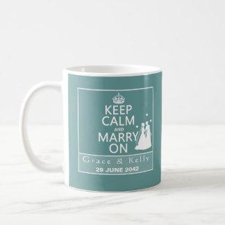 平静を保ち、レズビアンの結婚式で結婚して下さい コーヒーマグカップ
