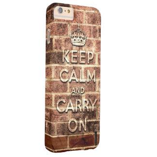 平静を保ち、-ロンドンの煉瓦を続けていって下さい BARELY THERE iPhone 6 PLUS ケース