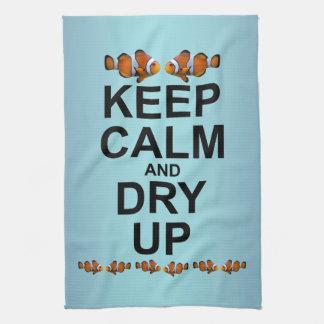 平静を保ち、乾燥して下さい台所タオル(スカイブルーの組合せ)を キッチンタオル