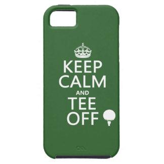 平静を保ち、以外のゴルフプレゼント、すべての色をティーにのせて下さい iPhone SE/5/5s ケース