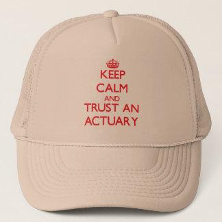平静を保ち、保険計理人を信頼して下さい キャップ