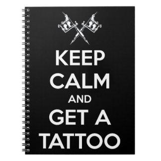 平静を保ち、入れ墨を得て下さい ノートブック