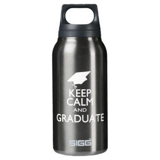 平静を保ち、卒業させて下さい 断熱ウォーターボトル