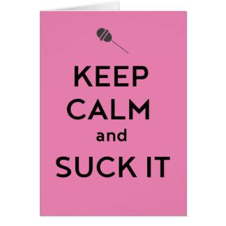 平静を保ち、吸って下さい カード