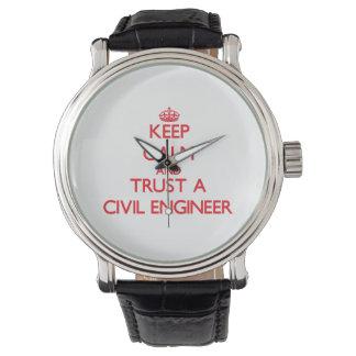 平静を保ち、土木技師を信頼して下さい 腕時計