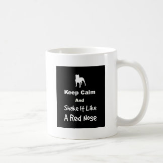 平静を保ち、好みます赤い鼻を揺すって下さい コーヒーマグカップ