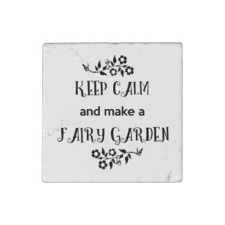 平静を保ち、妖精の庭、妖精の磁石を作って下さい ストーンマグネット