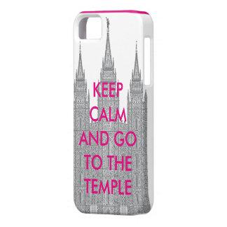平静を保ち、寺院に行って下さい iPhone SE/5/5s ケース