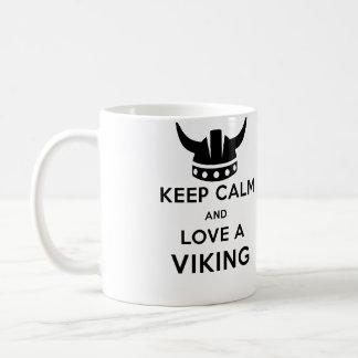 平静を保ち、左利きのバイキングのマグを-愛して下さい コーヒーマグカップ
