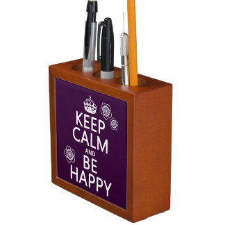 平静を保ち、幸せがあって下さい(すべての色で利用できる) ペンスタンド
