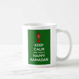 平静を保ち、幸せなラマダーンを持って下さい コーヒーマグカップ