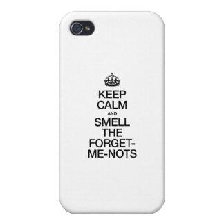 平静を保ち、忘れを私NOTSかいで下さい iPhone 4/4Sケース