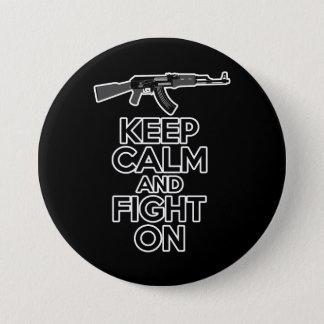 平静を保ち、戦って下さい 7.6CM 丸型バッジ
