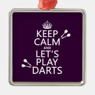 平静を保ち、投げ矢を遊ぼう メタルオーナメント