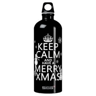 平静を保ち、持って下さいメリークリスマス(クリスマス)を ウォーターボトル