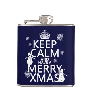平静を保ち、持って下さいメリークリスマス(クリスマス)を フラスク