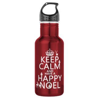 平静を保ち、持って下さい幸せなNoel (クリスマス)を ウォーターボトル